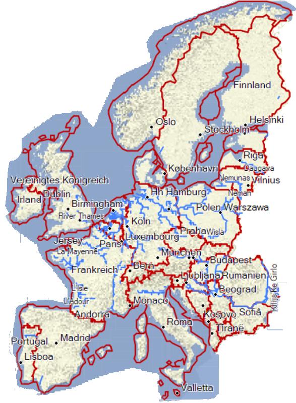 freie Karte für Garmin (Europa Abdeckung)